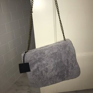 Urban Outfitters REAL SHEARLING purse